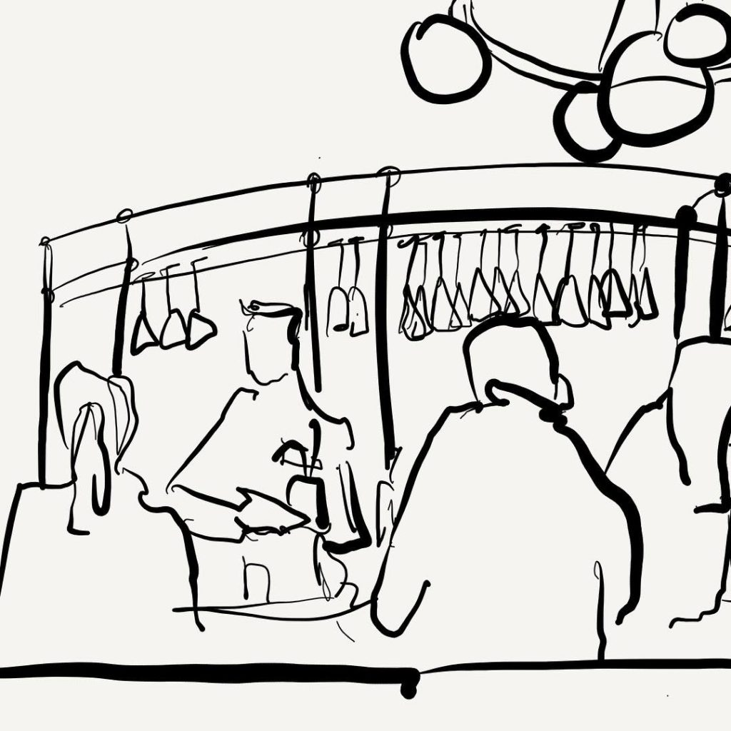 Quick urbansketch at thetamburlaine launchparty  already planning excuses tohellip