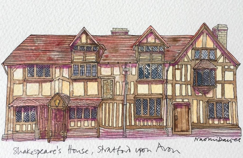 My contribution to TAE17 twitterartexhibit Shakespeares house in Stratford uponhellip