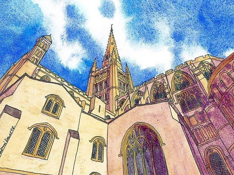 New painting of Norwich Cathedral Prints available Norwich Norfolk NorwichCathedralhellip