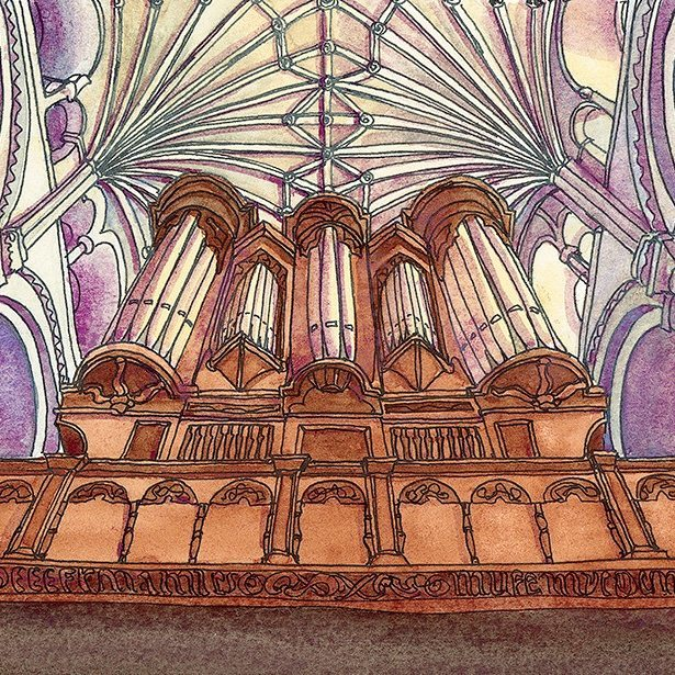 Norwich cathedral ceiling Prints available norwichart Norfolk visitnorfolk churchart vaultedceilinghellip