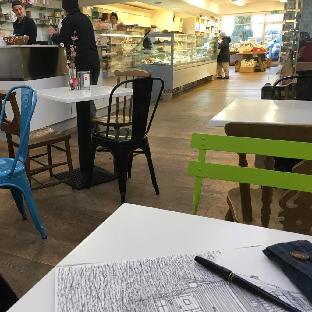 A lovely couple of hours drawing at balzanosdeli after droppinghellip