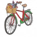 Bike with presents