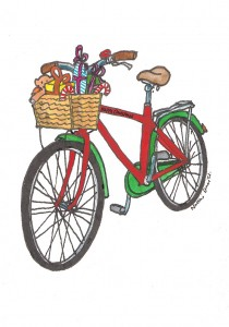 Bike with presents