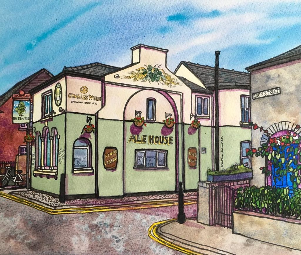 Latest commission elmtree cambridge watercolour watercolor pubsofinstagram camra cambridgepubs pubarthellip