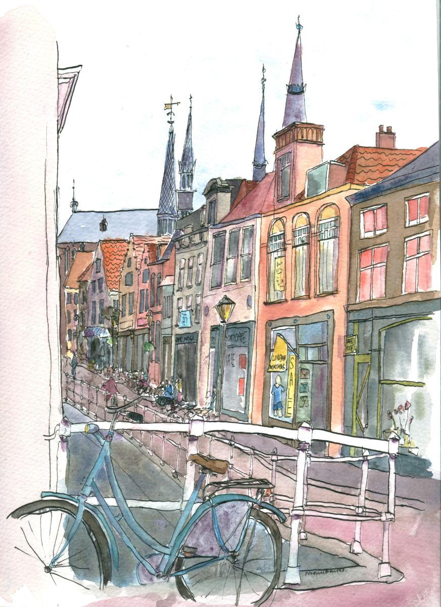watercolour - Delft