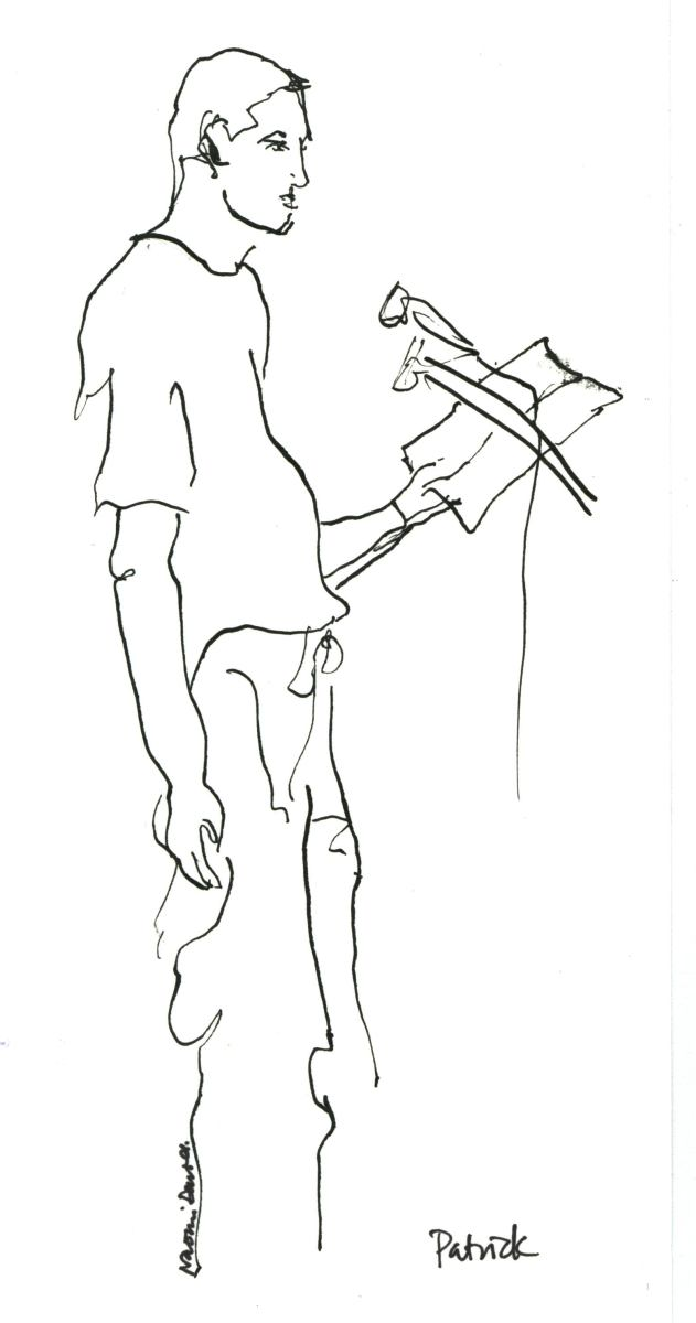 pen sketch of poet
